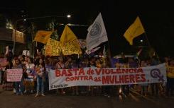 Violência contra a mulher e repúdio a Eduardo Cunha levaram centenas de pessoas às ruas. (Foto: Rafael Monteiro)