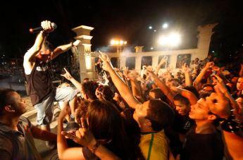 Gravação do DVD da Banda DELINQUENTES, Praça da República em Belém- Pa.