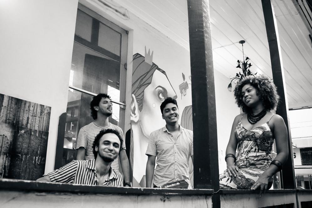 André Butter (em primeiro plano), Jassar Protázio, Ismael Rodrigues e Thais Ribeiro. (Foto: Karina Paes)