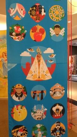 """Exposição """"Círio Ilustrado""""< do Coletivo Argonautas. (Foto: Gustavo Ferreira)"""